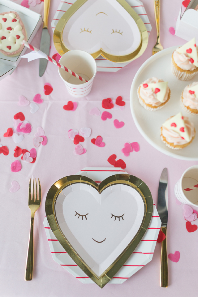 Gold Heart Party Plates