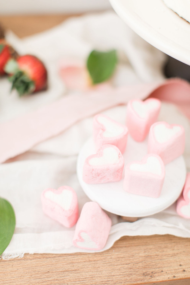 Pink and White Heart Dessert