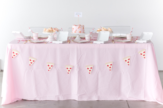 Heart Pizza Banner and Party Details