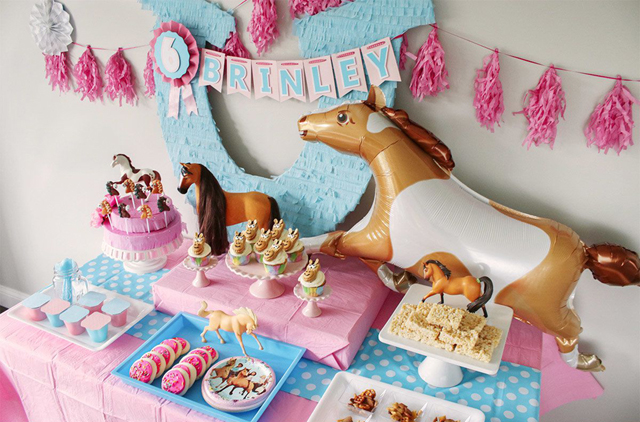 Horse Party Dessert Table and Decorations