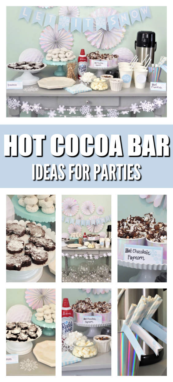Hot Chocolate Bar and Ice Skating Party on Pretty My Party