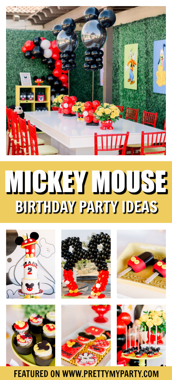 Mickey Mouse Themed Birthday Party on Pretty My Party