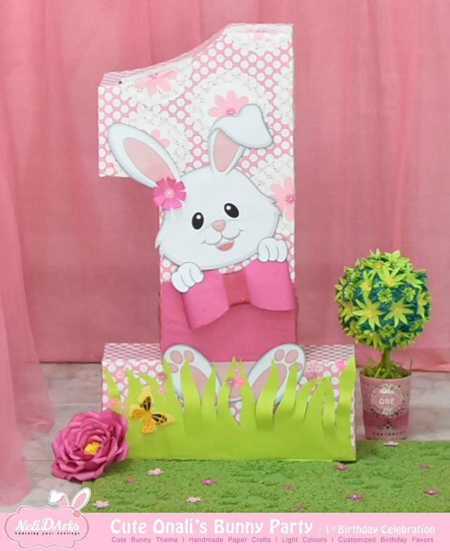 Bunny Themed Number One Party Decor