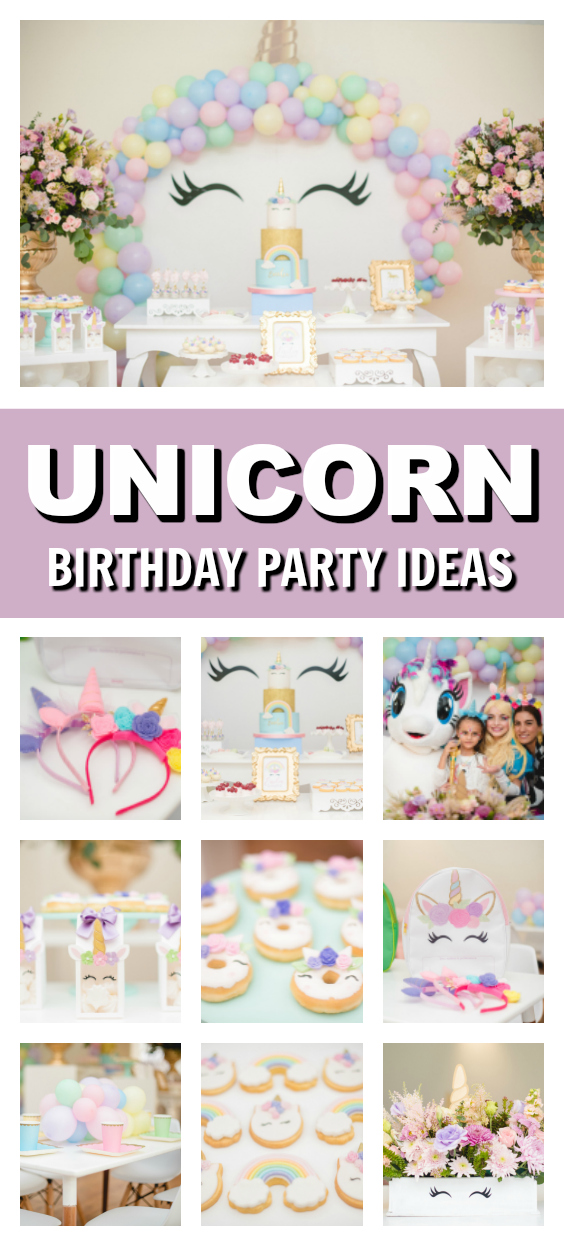 Pastel Unicorn Party on Pretty My Party