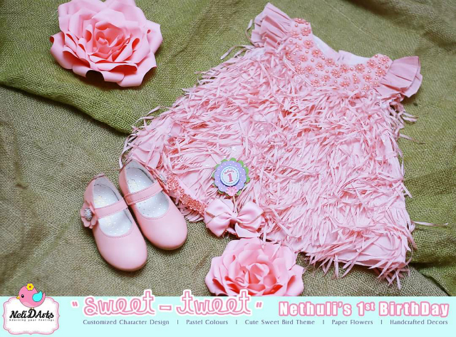 Pink 1st Birthday Outfit