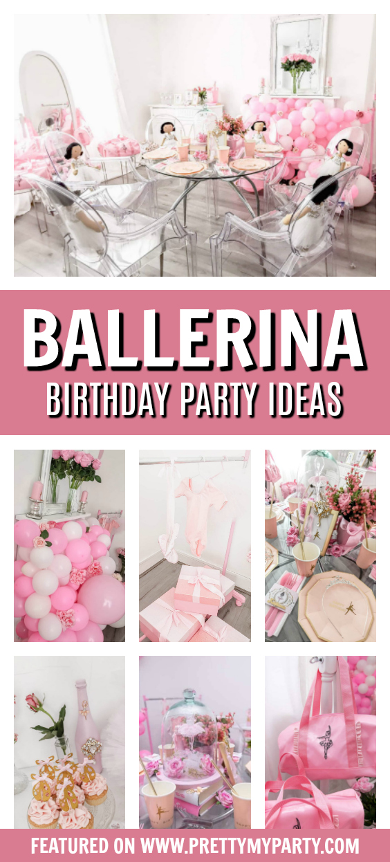Pink Ballerina Themed Birthday Party on Pretty My Party