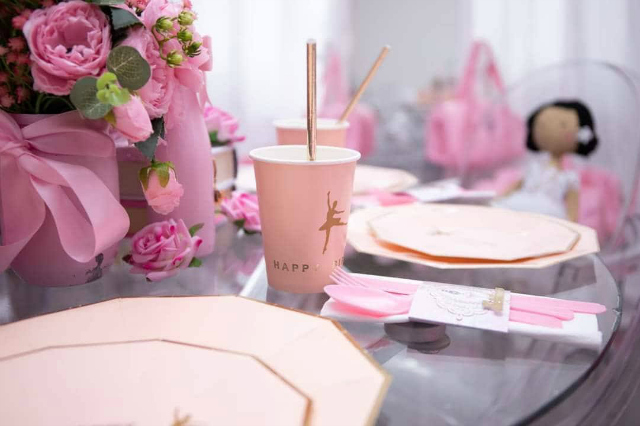 Ballerina Party Plates and Cups