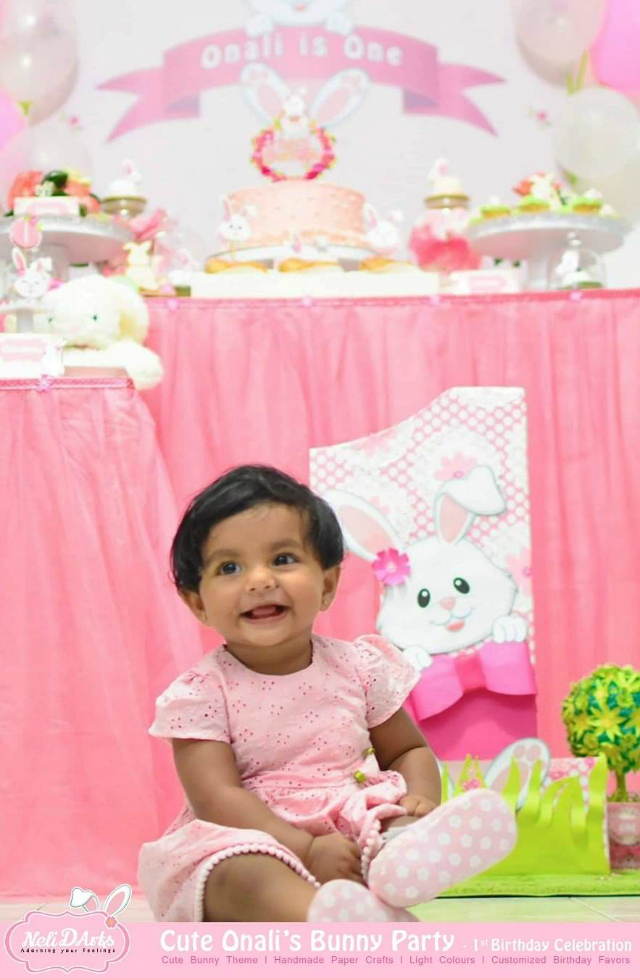 Pink Bunny Themed 1st Birthday
