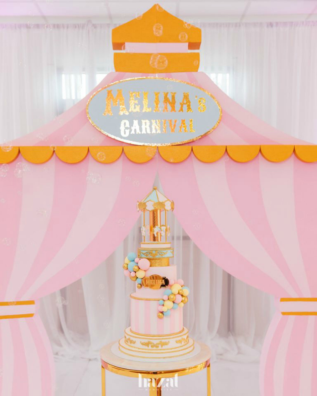 Fantastic Pastel Carnival Themed Birthday Party Pretty My Party Party Ideas Personalised Birthday Cards Bromeletsinfo