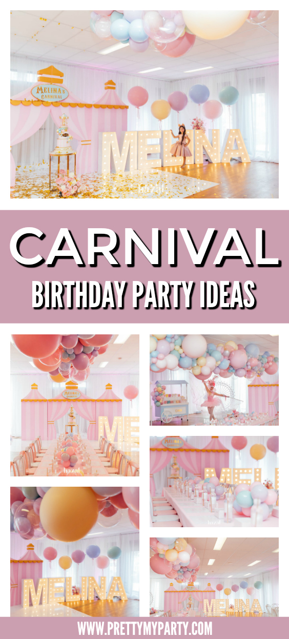 Pastel Carnival Themed Birthday Party on Pretty My Party