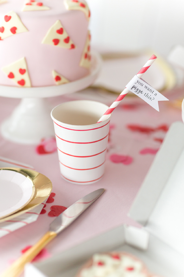 Pizza Themed Straw Flags