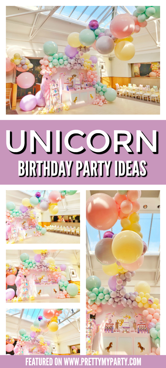Pretty Pastel Unicorn Party on Pretty My Party
