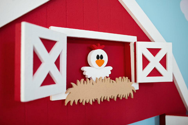 Red Barn Chick Party Prop