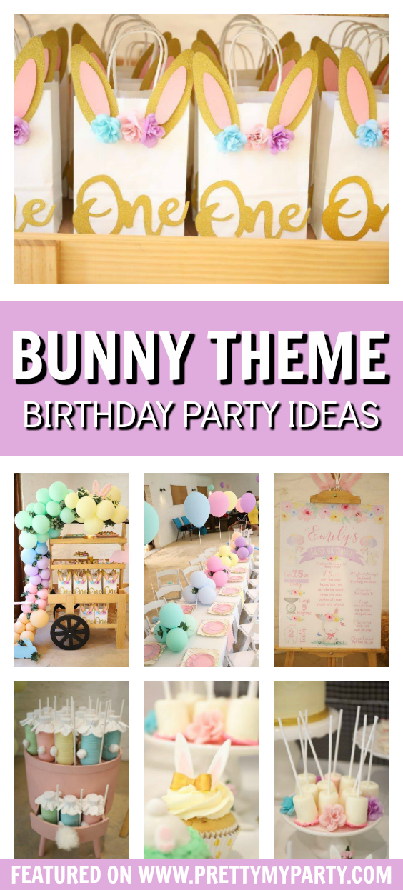 Some Bunny Is One 1st Birthday Party on Pretty My Party