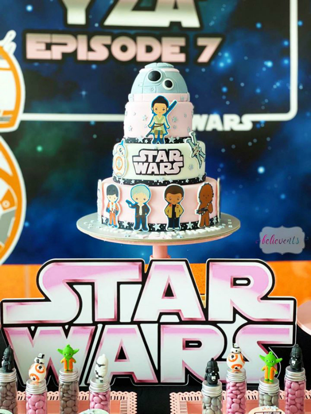 Star Wars Birthday Cake For Girls