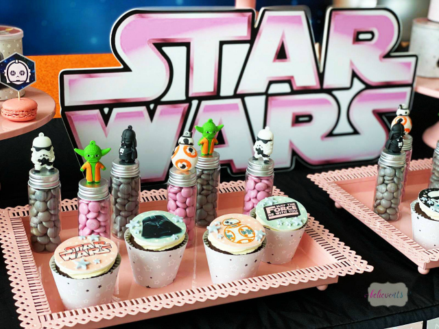 Star Wars Cupcake Toppers and Candy