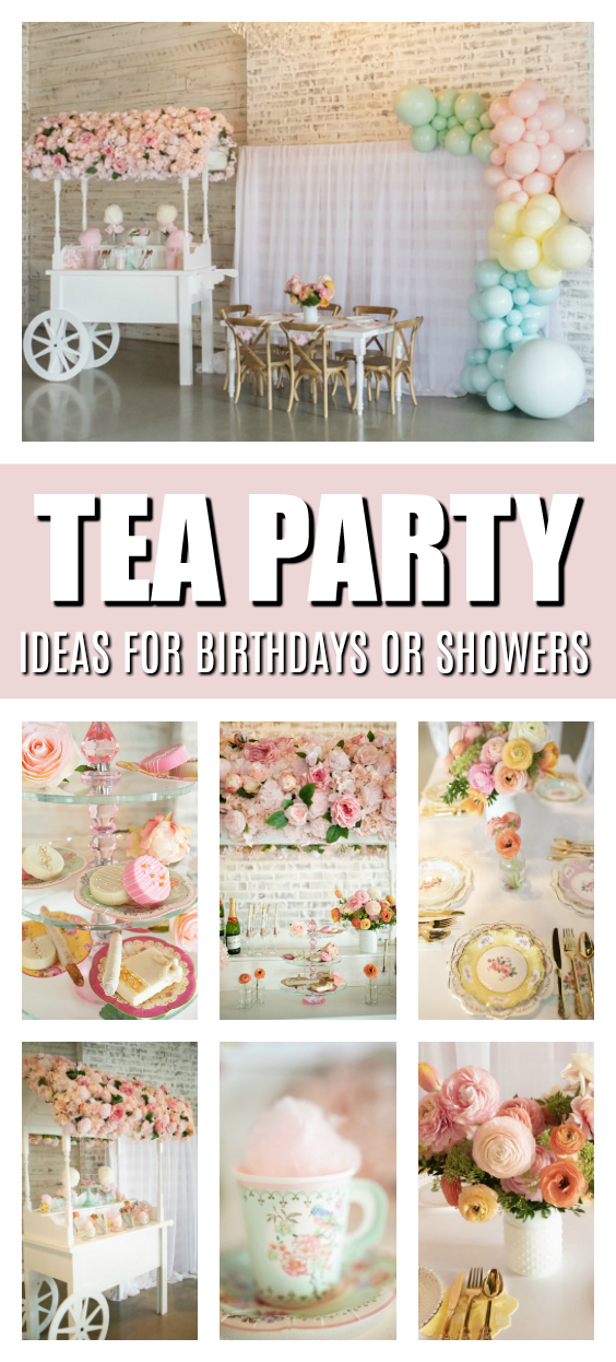 Tea Party Ideas on Pretty My Party