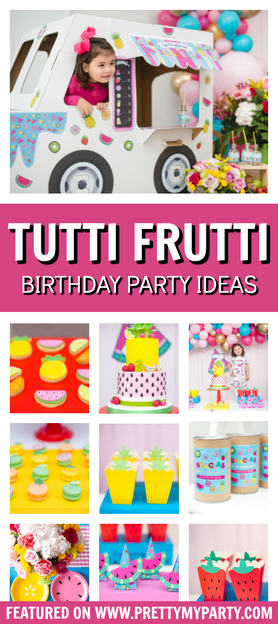 Tutti Frutti Food Truck Party on Pretty My Party
