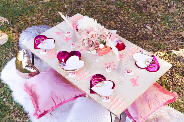 Valentine's Day Themed Party Table