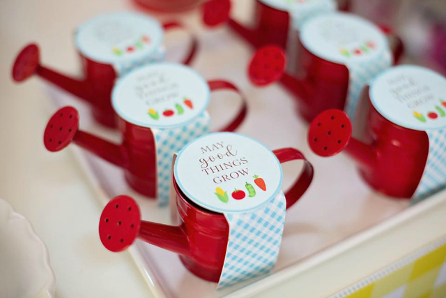 Red Watering Can Party Favors