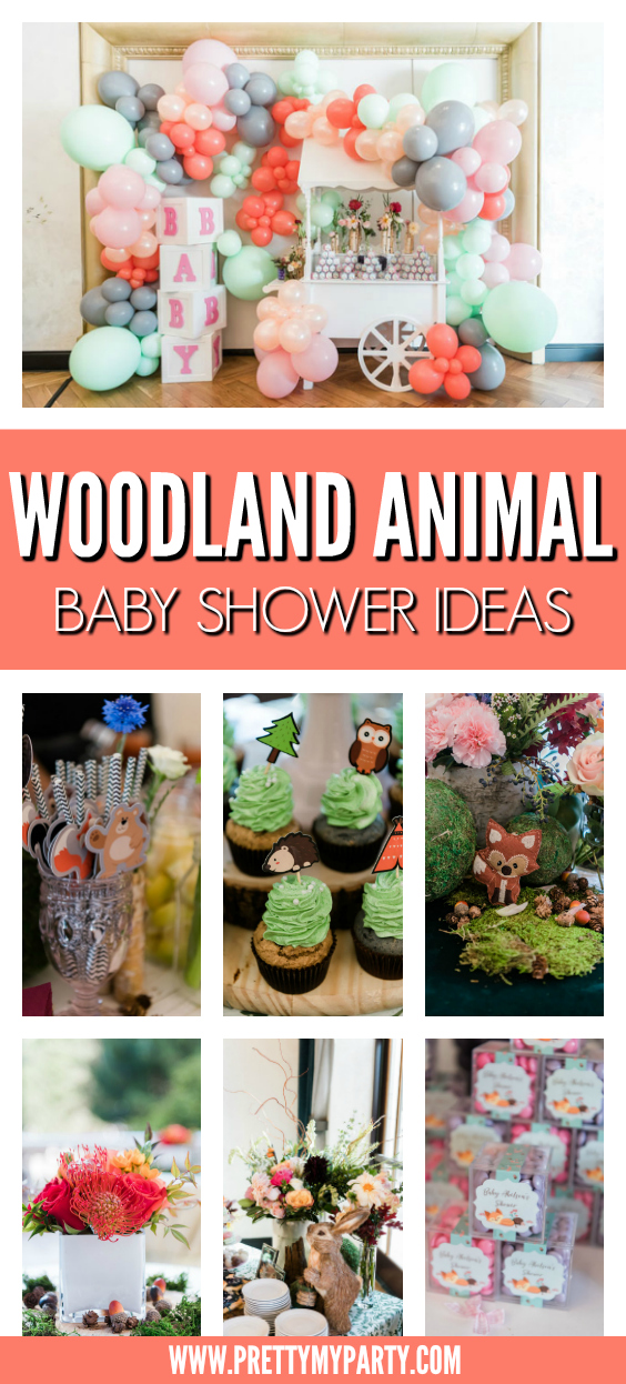 Woodland Animal Baby Shower Ideas on Pretty My Party