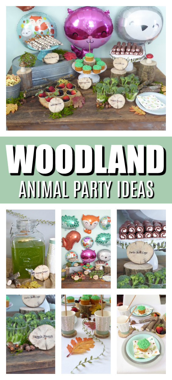 Woodland Animals Themed Party on Pretty My Party