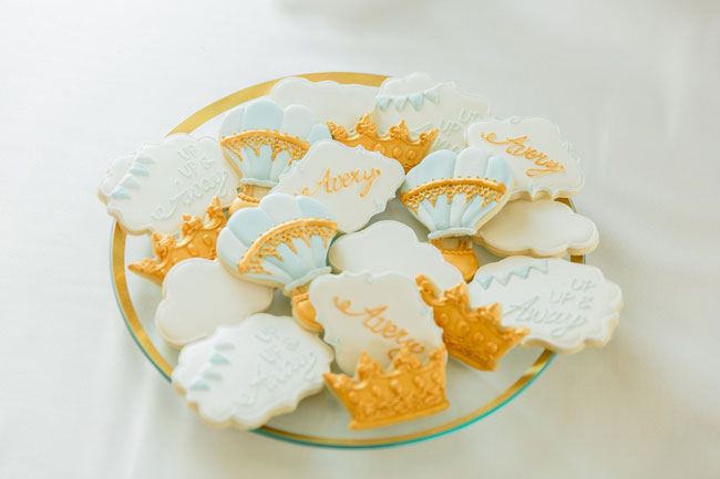 Whimsical Hot Air Balloon Baby Shower Cookies
