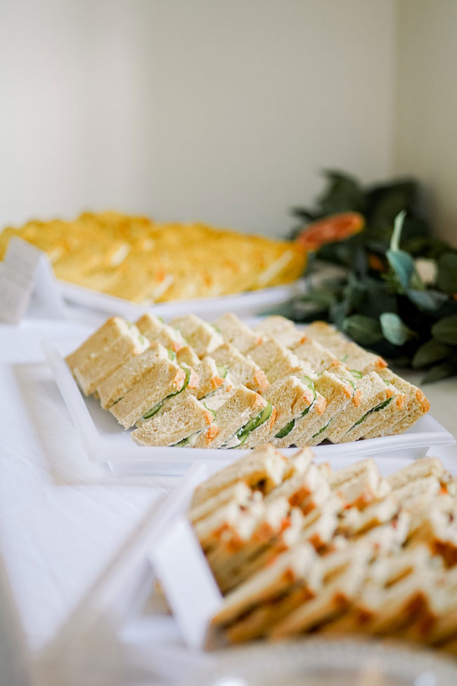 Orange and Navy Baby Shower Food Ideas