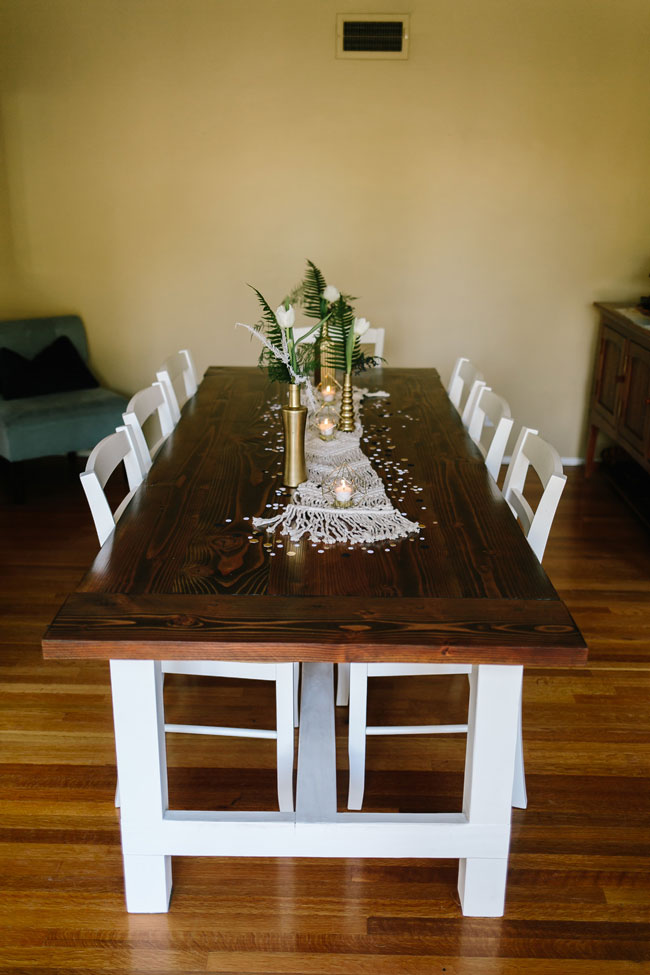Boho Baby Shower Guest Table