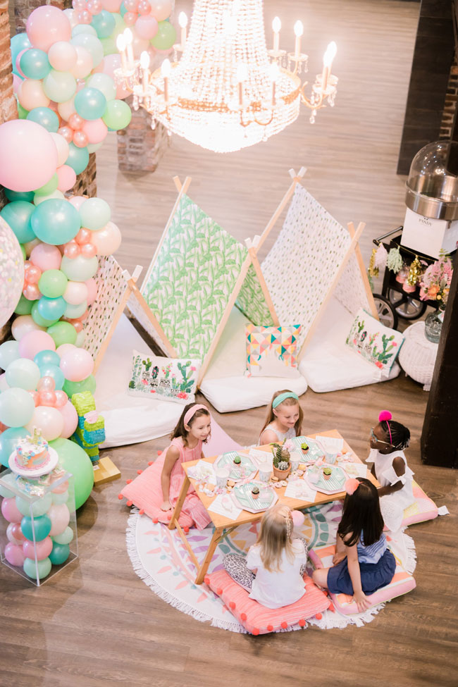 Colorful Cactus Teepee Party