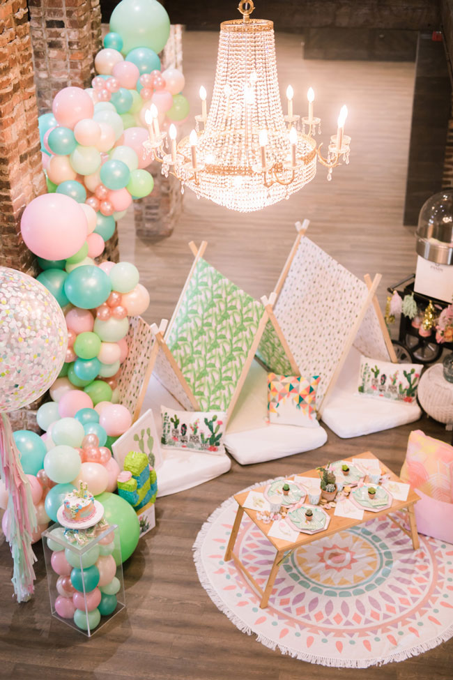 Colorful Cactus Teepee Party Ideas