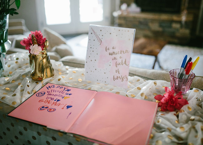 Unicorn Sign and Guest Book