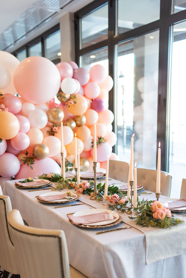 Engagement Party Table Scape