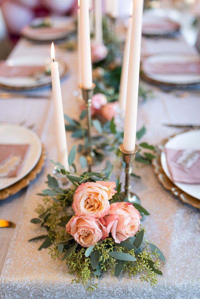 Floral and Greenery Decor on Tables
