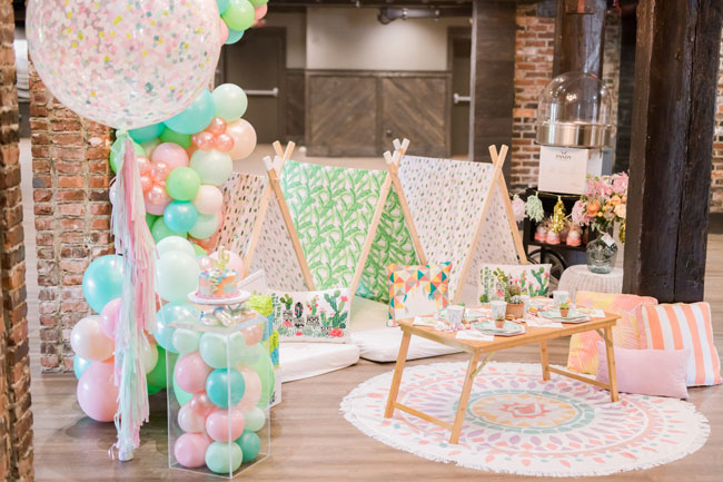 Cactus Themed Teepee Party