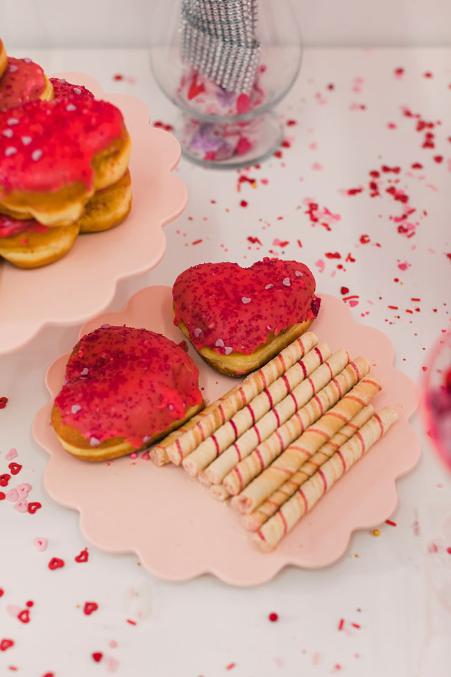 Red Heart Donuts