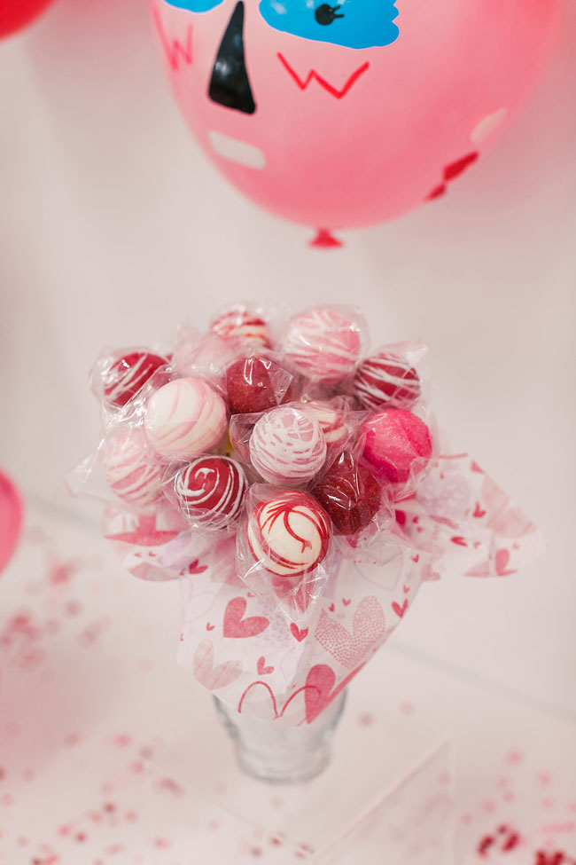 Valentine's Day Party Cake Pops
