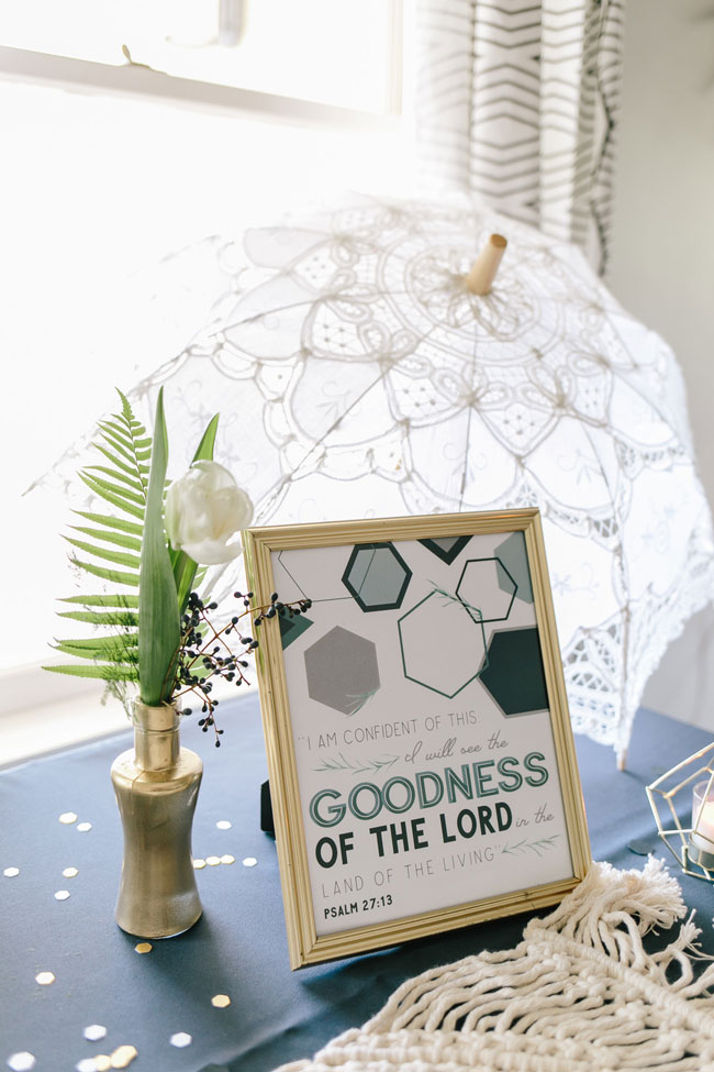 Geometric Themed Baby Shower Sign