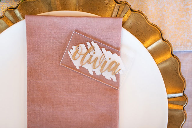 Engagement Party Name Place Setting
