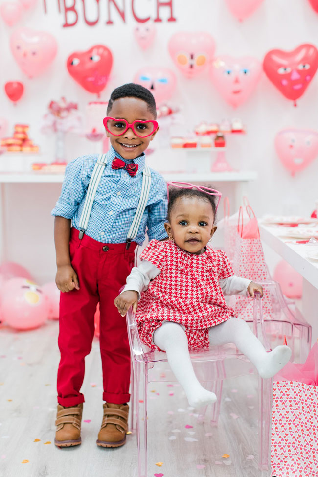 Heartbeat Valentine's Day Party Heart Sunglasses For Kids