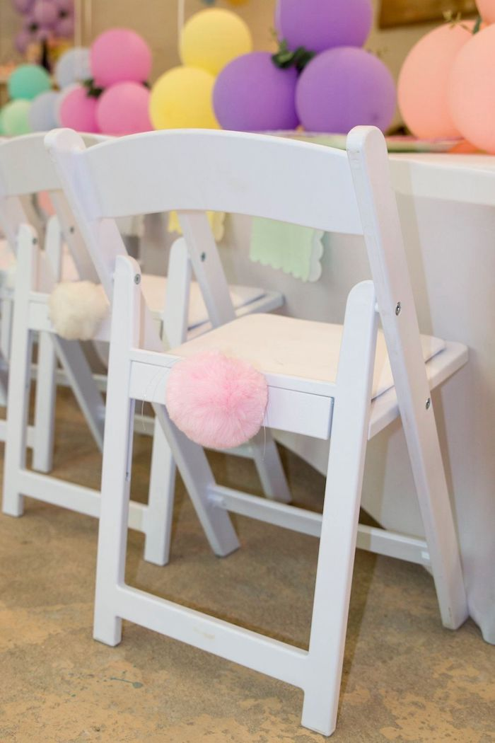 Some Bunny Is One Bunny Tail Chair Decor