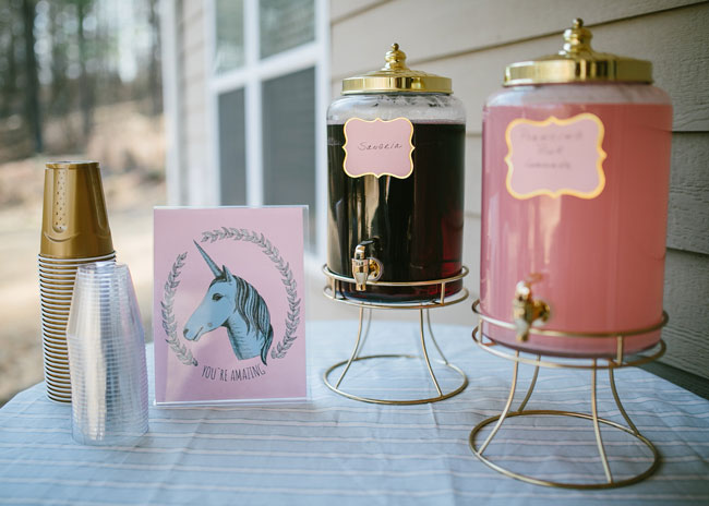 Unicorn Party Drink Station