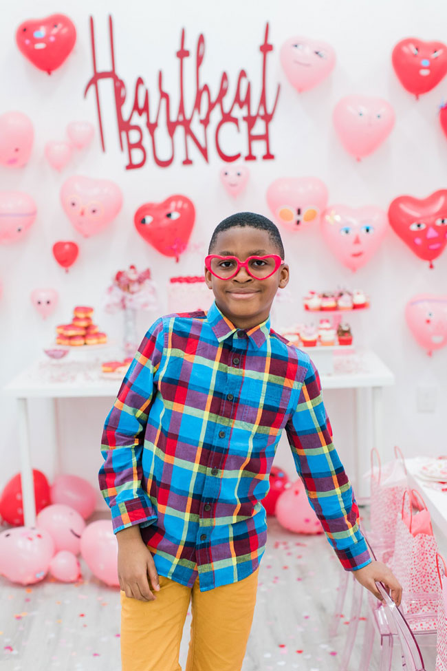 Kid's Heartbeat Bunch Themed Valentine's Day Party