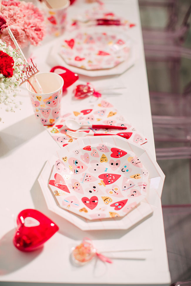 Heart Themed Valentine's Day Party Tableware