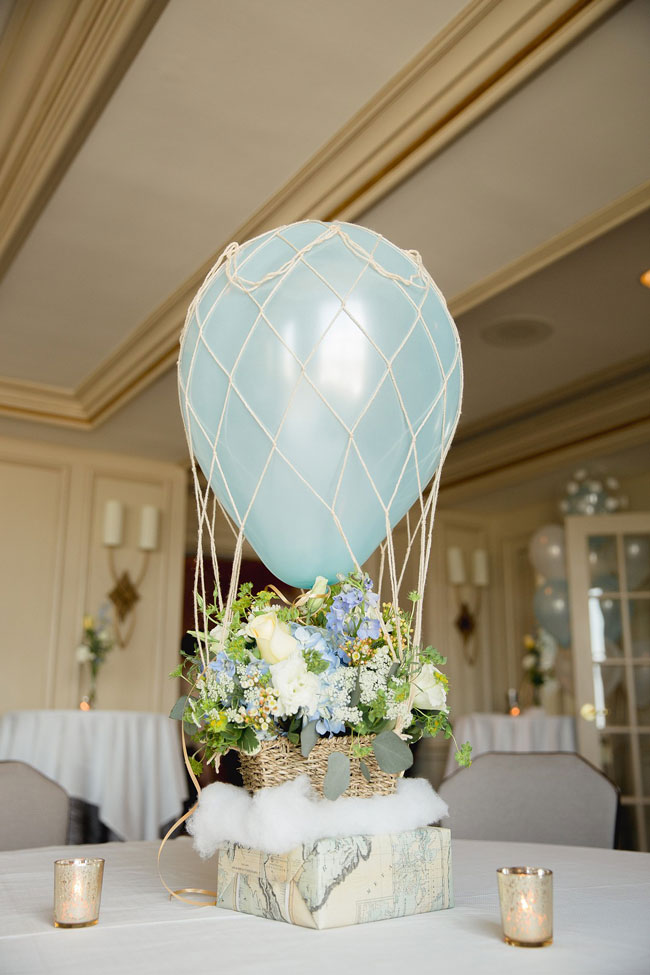 Whimsical Hot Air Balloon Baby Shower Pretty My Party