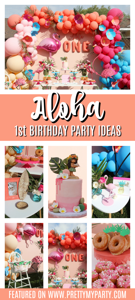 Aloha 1st Birthday Party on Pretty My Party