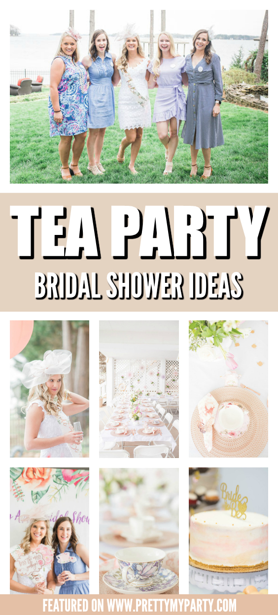Chic Tea Party Bridal Shower on Pretty My Party