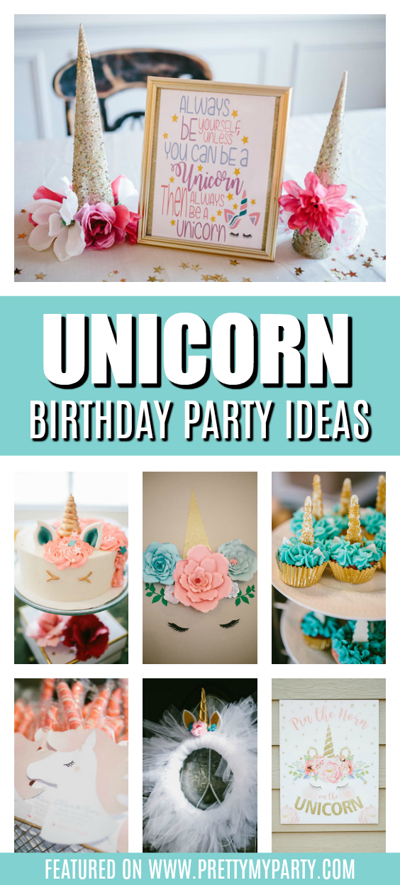 DIY Unicorn Themed Party on Pretty My Party
