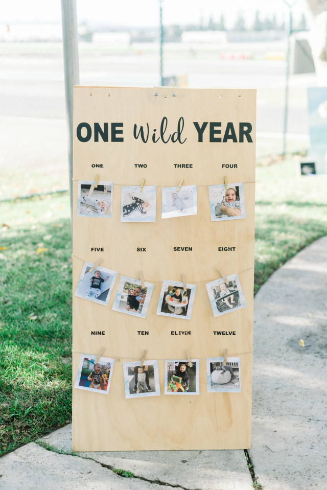 1st Birthday Photo Board