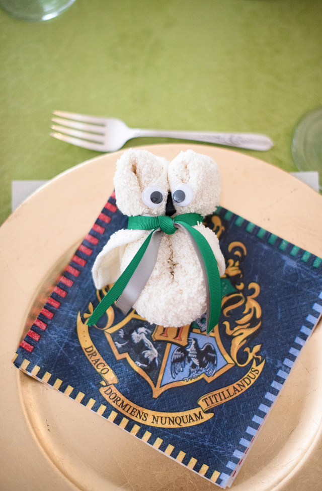 Harry Potter Baby Shower Place Settings